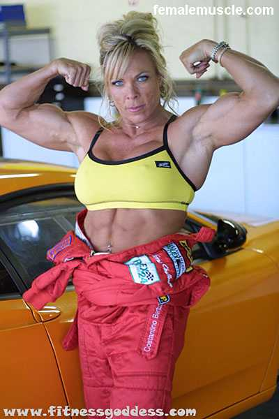 Well known female bodybuilder Lauren Powers placed first at The Emerald Ball ...